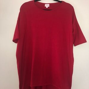 LuLaRoe Tops - red tunic